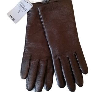NWT Land's End EZ Touch Leather Cashmere G…